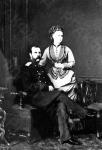 Император Александр II с дочерью великой княжной Марией Александровной. Российская империя. Начало 1870-х гг. Фотограф не установлен. РГАКФД.