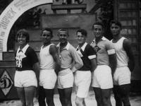 Группа спортсменов – лучших бегунов на 1000 метров. Украинская ССР, г. Харьков. 1934 г.