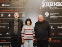 Заместитель директора РГАКФД Р.М. Моисеева и режиссеры-документалисты Д.В. Федорин (слева) и А.В. Осипов