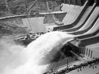 Вид гидроэлектростанции Наглу во время первого запуска. Афганистан. 1967 г. Фотограф В.Б. Соболев.